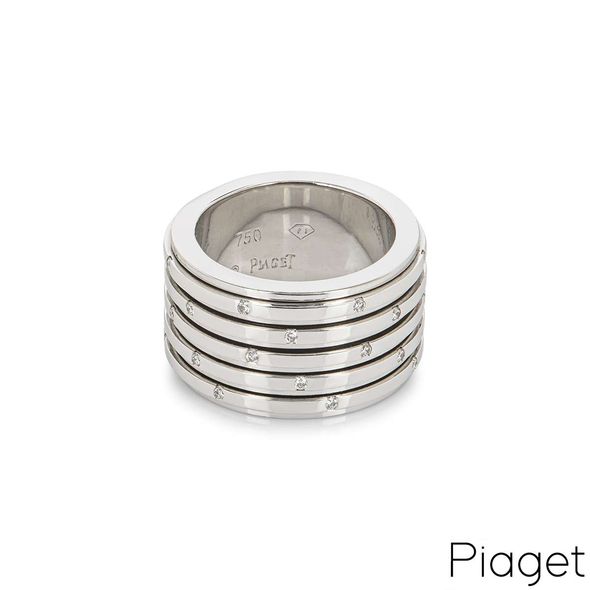 Piaget White Gold Diamond Possession Ring Size 52